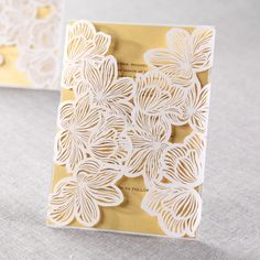 Laser Cut Floral Lace II by B Wedding Invitations