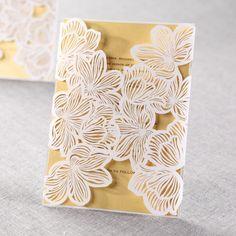 Laser Cut Floral Lace II by B Wedding Invitations