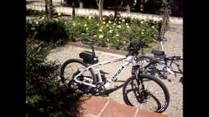 View an electric mountain bike, an electric folding bike.