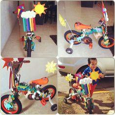 Spring bike decoration for a boy
