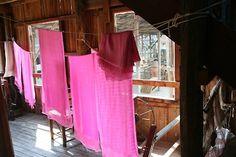 Zojora pink fabric in Inle Lake, Myanmar Inle Lake, Pink Fabric, Fun, Travel, Handicraft, Viajes, Trips, Traveling