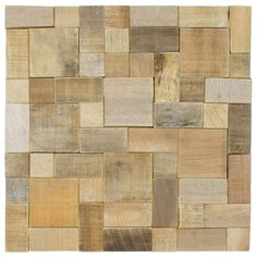 SomerTile 15.75x15.75-in Tropical Wood Versailles Wall Tile. I like the texture. I wonder whether it would be effective as a kitchen backsplash tile.