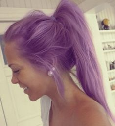 Charming light purple hair color