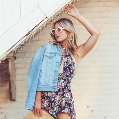 Not ready to put away our #summer styles just yet. @lisamarieprang #StyleInspiration #BlondeHair #SummerHair 90s Fashion, Summer Hairstyles, Tea Tree, Pantone, Hair Care, Sunglasses, Retro, Rompers, Style Inspiration