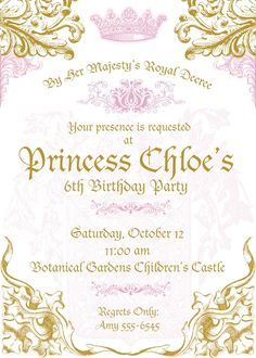 royal princess invitations Google Search Items similar to Disney Princess Invitations DIGITAL FILE on Etsy Princess Birthday Party Invitation Printable Girl by OhCreativeOne Baby Shower Invitation Princess Baby Shower Invitation Cards Princess Invitation Princess Birthday Castle by CMLDesigns Princess Birthday Invitations Too Chic Little Shab Design Studio princess castle party invitation custom by andrewandelladesigns Princess