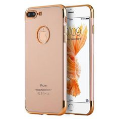 d084b2c53cd8 SKYFALL Electroplated iPhone 7 Plus   8 Plus Case - Clear Rose Gold