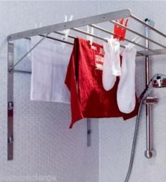 Madison Wall Mounted Laundry Drying Rack 42hx46w White