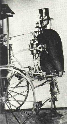 Zadock Deddrick of Newark, New Jersey, patents a steam-powered man in 1868. #steampunk, #automaton, #robot