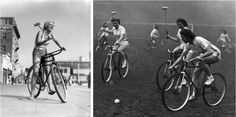 Cycle Polo was invented in Ireland in 1891, and then peaked in popularity in the 1930s and 40s. Hard court bicycle polo has made a recent comeback all over the globe.