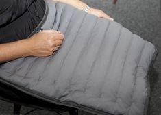 The comforters are for users of all ages. Weighted Comforter, Folded Up, Grey Fabric, Fabric Design, Comforters, Compact, Chain, Creature Comforts, Quilts