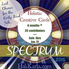 Visual Journaling Meets Holistic Creative Community! Discounted registration rate for Spectrum 2015 ends @ midnight 1/31 #holisticcreative