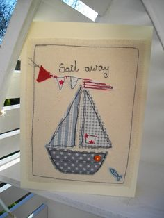 Boys Nautical Birthday Picture Machine by SewSweetbySuzanne
