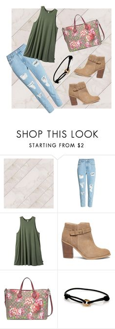"""""""Mom jeans"""" by heather-forde ❤ liked on Polyvore featuring H&M, RVCA, Sole Society, Gucci and Cartier"""