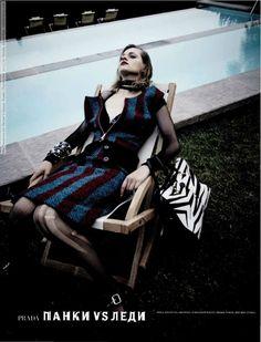 Mia Temirova for Harper's Bazaar Russia (September 2013) by Natalia Alaverdian