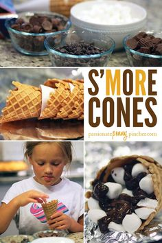 S'mores Cones Recipe | Perfect Summer Craft For Kids | Summer Fun