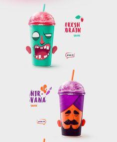Shake My Head Milkshakes on Packaging of the World - Creative Package Design Gallery