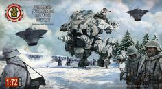 Uchronic Model Kit Box 2 Picture  (2d, illustration, nazi, steampunk, mech, tank, soldiers)