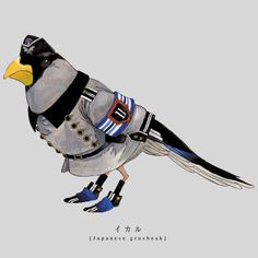 """Torigun"", birds dressed in military uniforms by Japanese artist Sato."