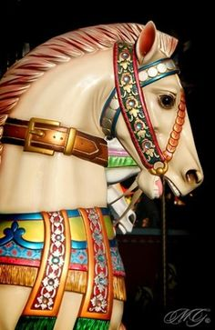 Carousel horse by thelma