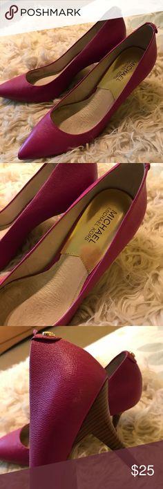 Michael kors heels Purple Michael Kors Heels. Great condition. Size 8. Michael Kors Shoes Heels