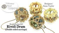 RIvoli Drum (Double Sided Earrings)
