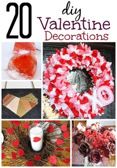 20 Best DIY Valentine Decorations You Can Make. These are so clever, easy, and beautiful -- even if you can't craft. Diy Valentines Day Wreath, Valentines Day Decorations, Valentine Day Crafts, Be My Valentine, Holiday Crafts, Valentine Ideas, Easy Crafts, Crafts For Kids, Arts And Crafts