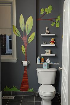 great for a kids bathroom: if they are lucky enough to have one of their own.