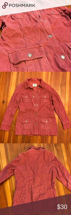 Old Navy Corduroy Jacket This red jacket is very cozy! Soft corduroy and a great length! It falls just below the hips. Old Navy Jackets & Coats