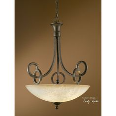 Uttermost Legato Scavo Glass Uplight Pendant 21829