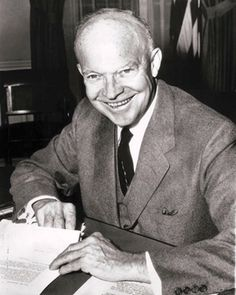 Eisenhower, a very innovative man. Even my parents still like IKE, esp seeing what the repubs have to offer this year...