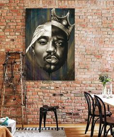 tableau-decoratif-biggie-tupac-hiphop-pop-art-4 Tableau Pop Art, Portrait, Decoration, Hiphop, Mount Rushmore, Nature, Painting, Rapper, Canvas