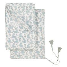 Flat Bed Sheet Pattern Monkey, 240x260 cm, Green Sea