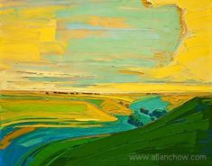 Giclee on canvas - Majestic Hills - - Prairie Landscape Love Painting, Light Painting, Kansas City Art Institute, Flint Hills, Contemporary Landscape, Color Stories, Large Prints, Landscape Paintings, Original Paintings