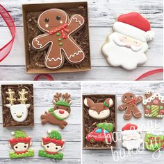 25 Christmas Sugar Cookie Tutorials and Inspiration! - Queens Cake Creations