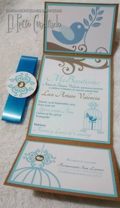 Invitacion bautizo, baby shower Country Wedding Invitations, Baptism Invitations, Baby Shower Invitations, Party Invitations, Baptism Party, Boy Baptism, Ideas Para Fiestas, First Holy Communion, Holidays And Events