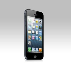 iPhone mockup created with nothing but vector shapes and layer fx.