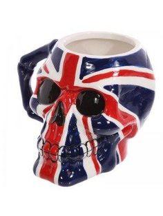 Coffee Mug Novelty Skull Head Union Flag Ceramic by getgiftideas Thermal Mug, Insulated Mugs, Reusable Coffee Cup, Camping Coffee, Skull Head, China Mugs, Coffee Lover Gifts, Cute Mugs, Union Jack