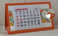 Debbie's Designs: Craft Fair Desktop Easel Calendars with full directions using Stampin' Up! Diy Calendar, Printable Calendar Template, Desk Calendars, Craft Gifts, Diy Gifts, Craft Cards, Card Crafts, Local Craft Fairs, Craft Show Ideas