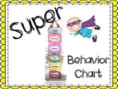 Superhero Themed Behavior Chart @brookesbundles #tpt