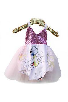 #Bellethreadspinterest A Princess Story Pink Sparkle Tutu Romper READY TO SHIP