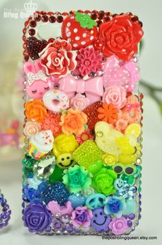 Iphone 4 Bling Decoden Phone Case/Cover by theposhblingqueen, $65.00