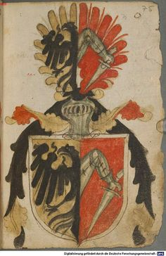 Ortenburger Wappenbuch Bayern, 1466 - 1473 Cod.icon. 308 u  Folio 75r