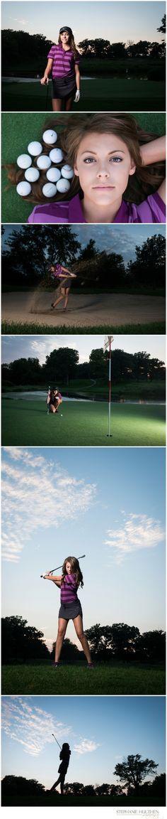 senior girl pose | senior girl golf | northern illinois senior photographer | © stephanie hulthen photography