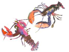 lobster #watercolor...would love this for my kitchen