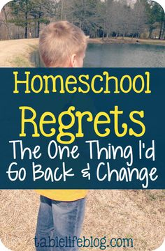 When I look back on our journey, I'm happy to say I don't have many homeschool regrets. In fact, I've only got one thing I'd change if I could.