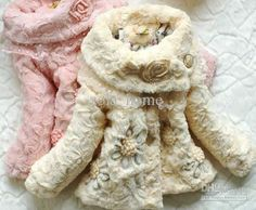 Fashion fur embroidery girls cotton jacket coat outware