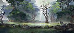 ArtStation - Therion Saga Backgrounds, Tyler edlin Sci Fi Fantasy, Fantasy World, Game Background, Fictional World, Tumblr, Visual Development, Environment Design, Fantasy Landscape, My Portfolio