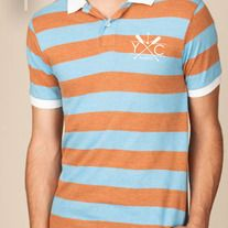 This sporty short-sleeve polo is fashioned with bold rugby-style stripes for a pop of color. Features a contrasting solid color and sleeve bands. Accented with two-button placket and a slightly longer back for added comfort. Made of sustainable Eco-Stripe Jersey, part of our eco-friendly Yacht Cl...   #YachtClub #MensFashion #Anchor #Nautical #Clothing #Fashion #Nashville #Rugby #Menswear #Polo #Golf