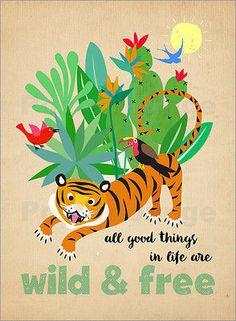 Poster-Leinwandbild-Wild-and-Free-Elisandra