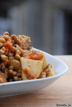 tajine de poulet aux pommes de terre et potiron